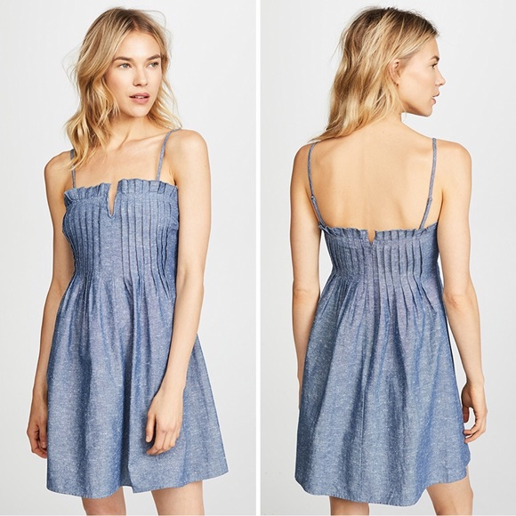 70b1918802 Madewell Dresses   Skirts - Madewell Denim Pintuck Cami Dress